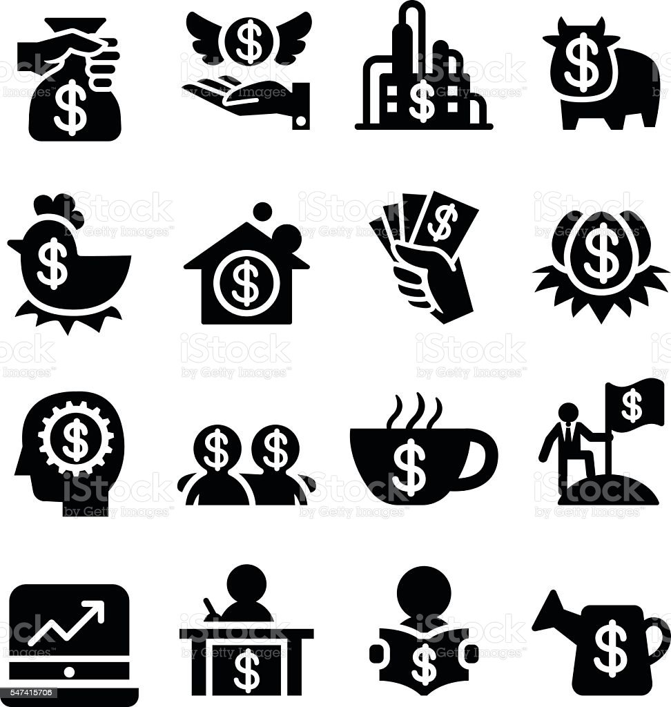 Invesment icons vector art illustration