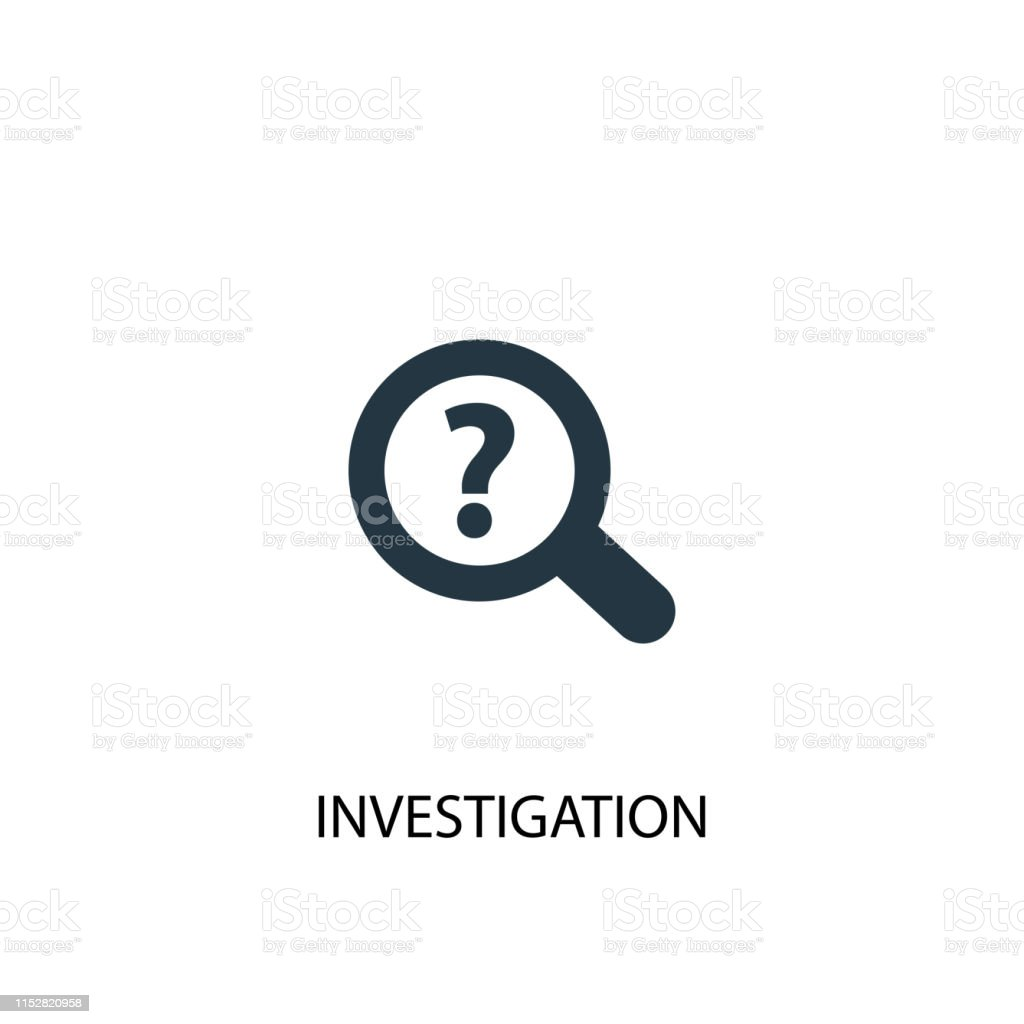 Investigation Icon Simple Element Illustration Investigation Concept