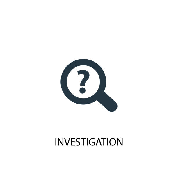 investigation icon. simple element illustration. investigation concept symbol design. can be used for web and mobile. - предельно крупный план stock illustrations