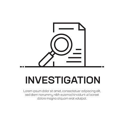 Investigation Vector Line Icon - Simple Thin Line Icon, Premium Quality Design Element