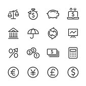 Investing and Finance Icon Set - Line Series