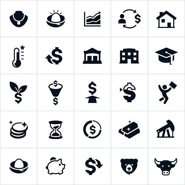 Investitionen Symbole – Vektorgrafik