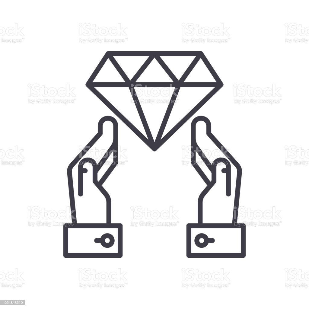 Investing in jewelry black icon concept. Investing in jewelry flat  vector symbol, sign, illustration. royalty-free investing in jewelry black icon concept investing in jewelry flat vector symbol sign illustration stock vector art & more images of antiquities