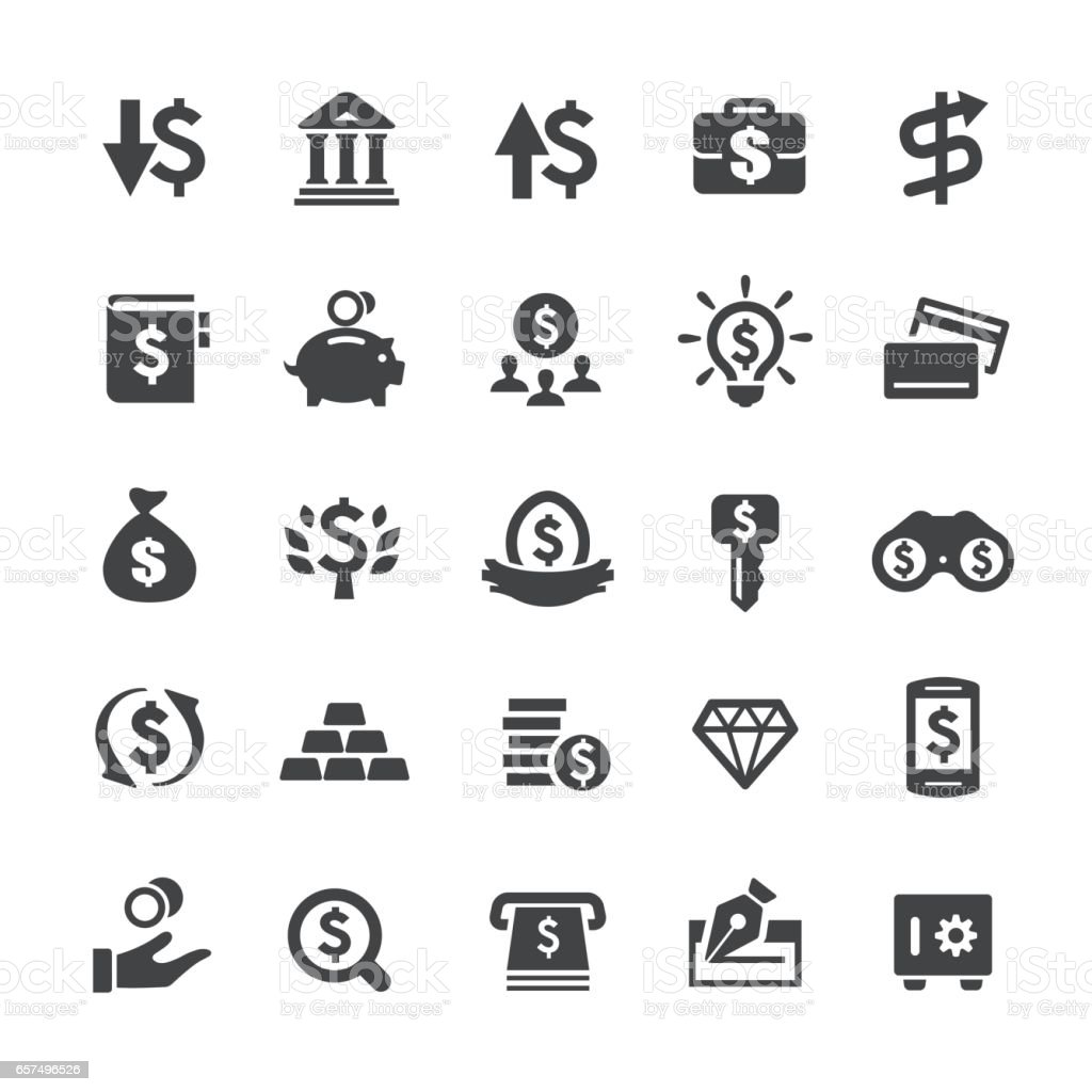 Investment and Money Icons - Smart Series vector art illustration