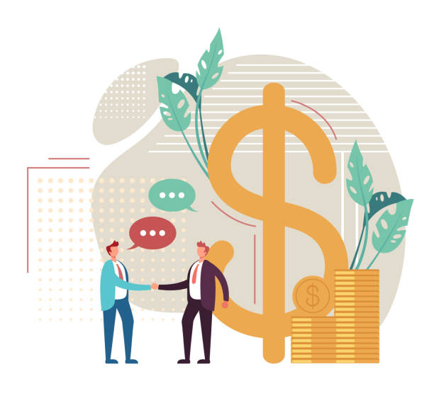 Investment banking concept. Vector flat graphic design cartoon illustration vector art illustration