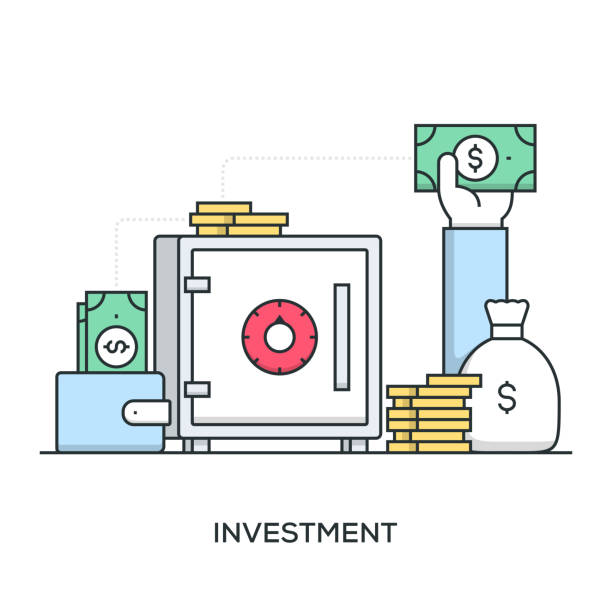 Investment Banner Investment Banner time is money stock illustrations