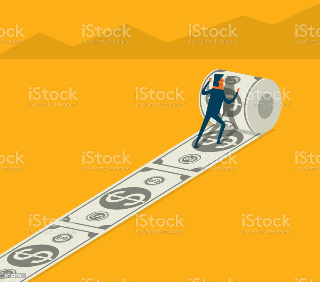Investment - Businessman vector art illustration