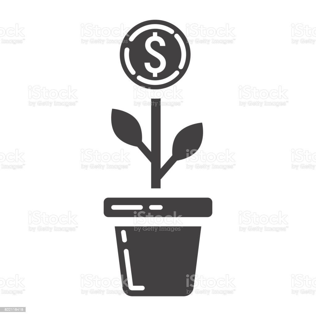 Ilustración de Icono De Glifo De Crecimiento De Inversión Negocios Y ...