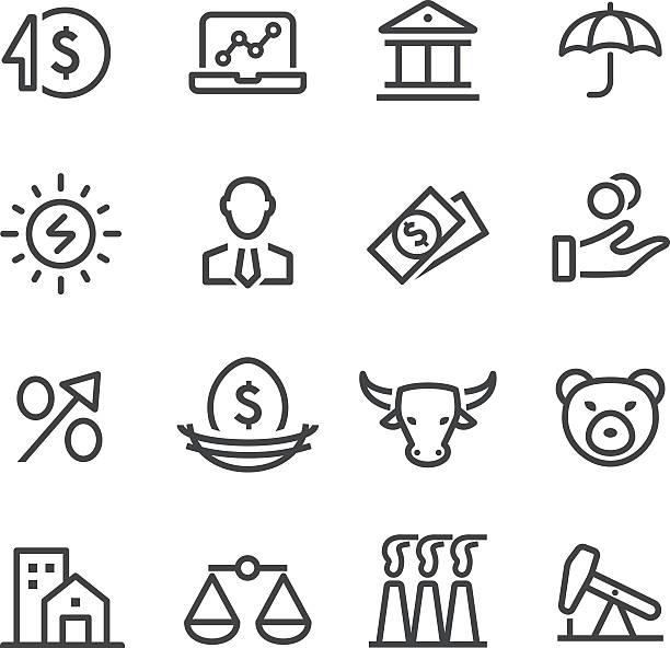 Investitionen Symbol-Line Serie – Vektorgrafik
