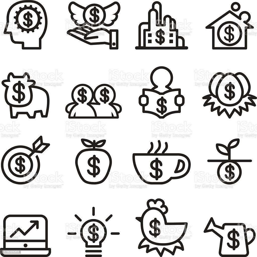 Investment icon set , line icon vector illustration vector art illustration