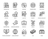 Investment Icon Set - Thin Line Series
