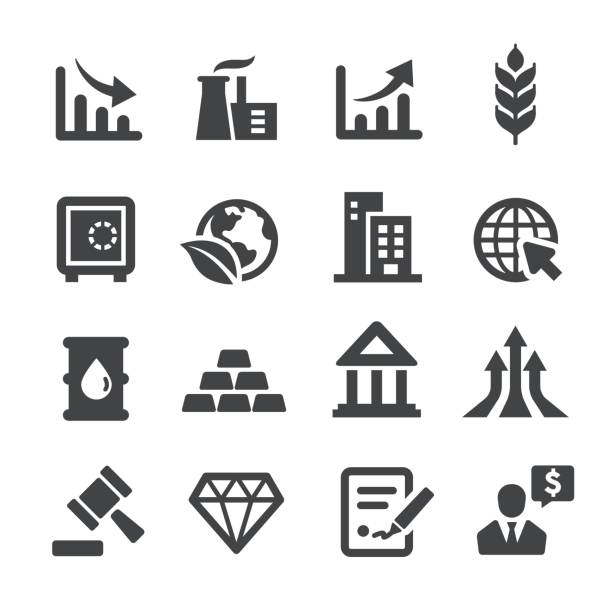 Investment Icons - Acme Series Investment Icons ingot stock illustrations