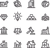 Investment Icons - Line Series