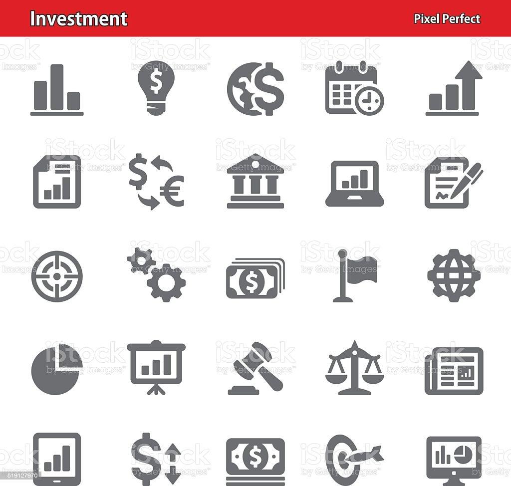 Investment Icons - Set 2 vector art illustration