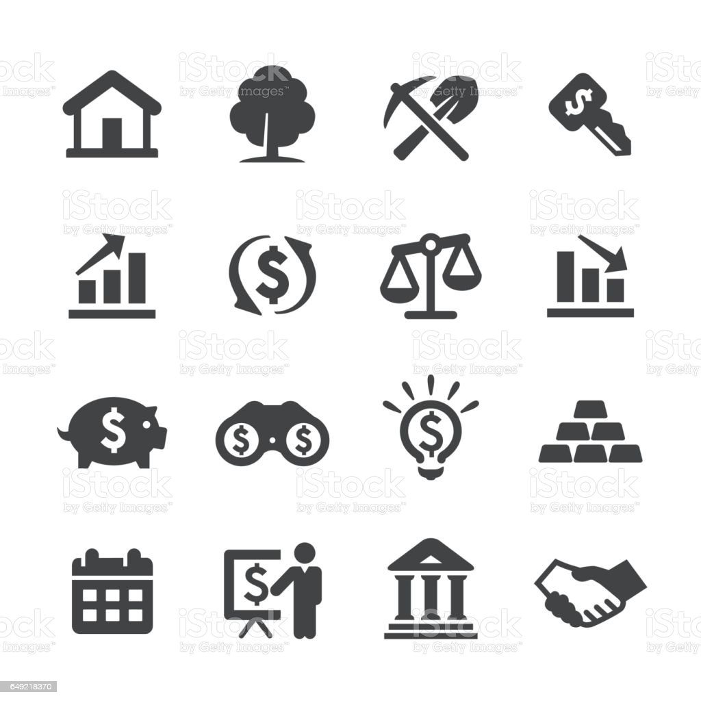 Investment Icons Set - Acme Series vector art illustration