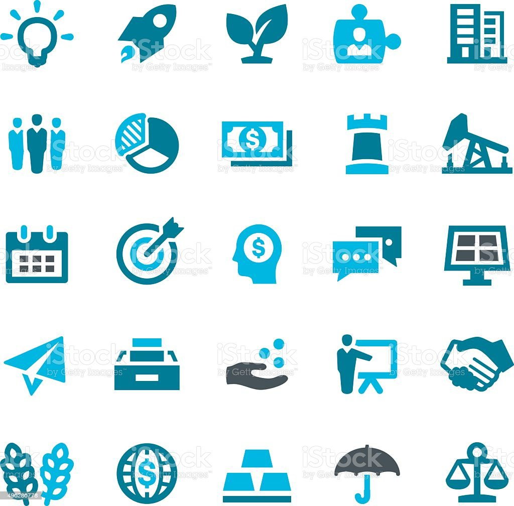 Investment Icons vector art illustration