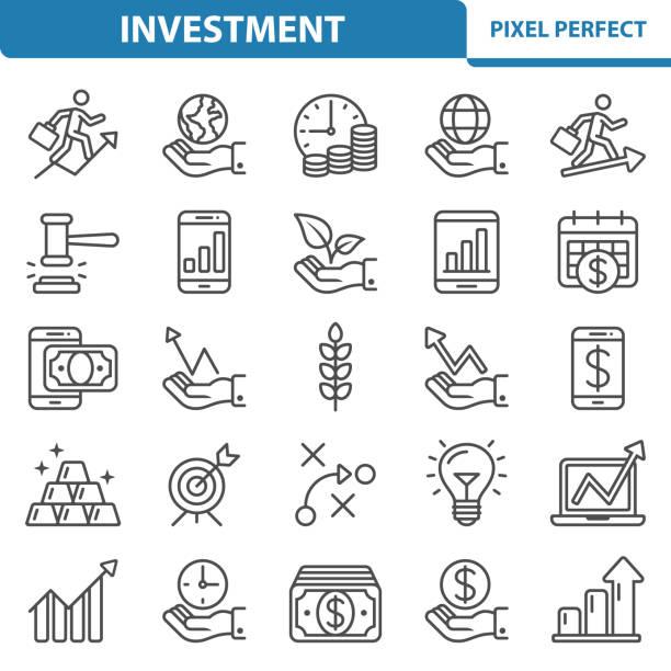 Icônes de l'investissement - Illustration vectorielle