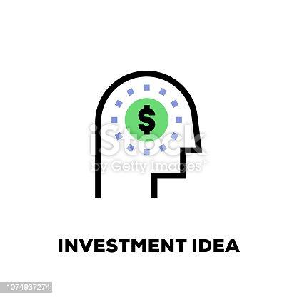 Investment Idea Line Icon