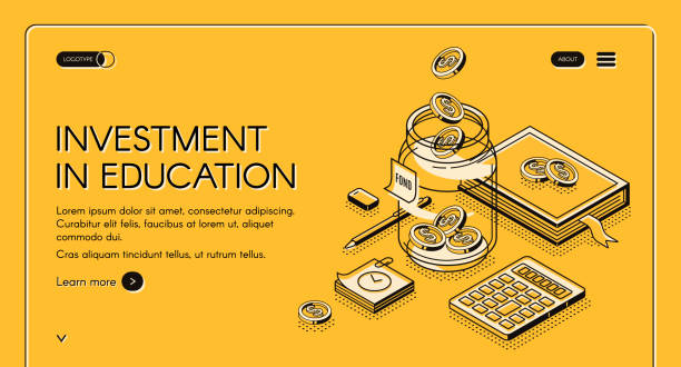 education loan stock illustrations