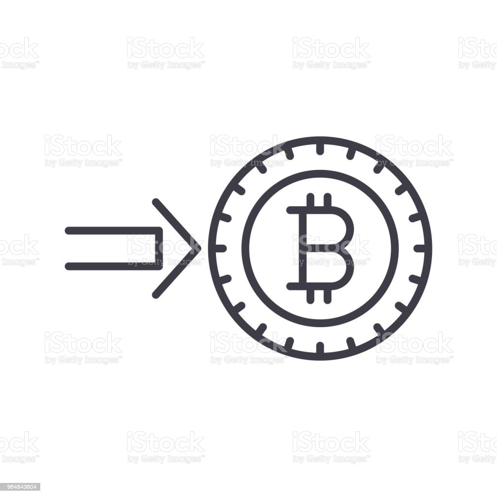 Investment into bitcoin black icon concept. Investment into bitcoin flat  vector symbol, sign, illustration. royalty-free investment into bitcoin black icon concept investment into bitcoin flat vector symbol sign illustration stock vector art & more images of bank