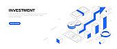 Investment Isometric Banner Design
