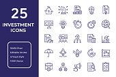 Investment Line Icon Design