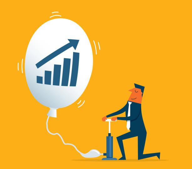illustrations, cliparts, dessins animés et icônes de investissement en remontant - inflation