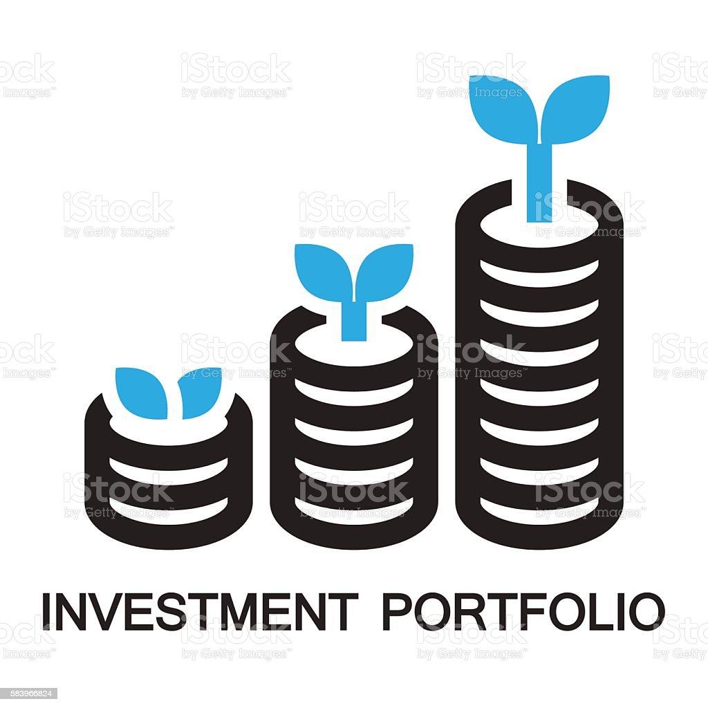 investment portpolio,icon and symbol vector art illustration