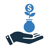 istock Investment, profit icon / vector graphics 1261978582