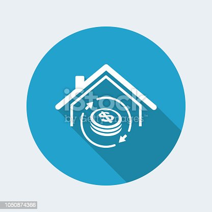 istock Investment property - Real estate - Vector web icon 1050874366