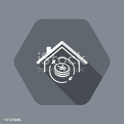 istock Investment property - Real estate - Vector web icon 1151379080