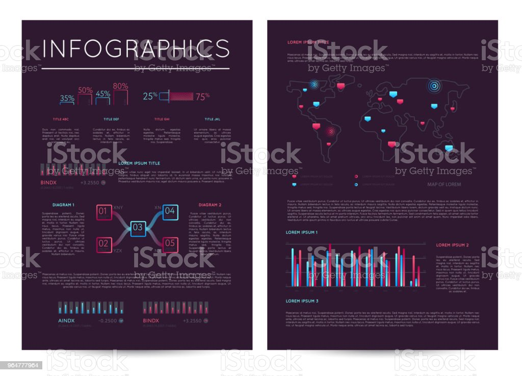 Investment report with various infographics royalty-free investment report with various infographics stock illustration - download image now