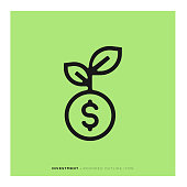 Investment Rounded Line Icon