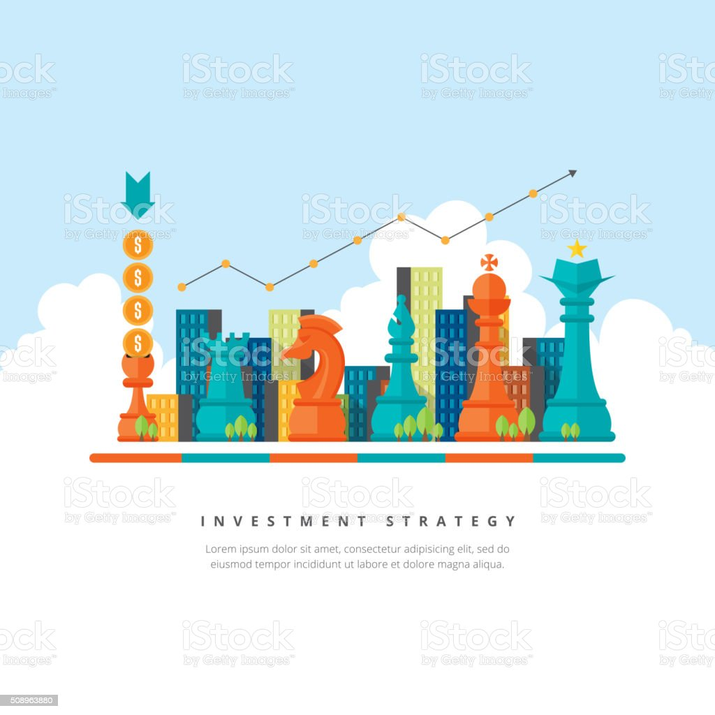 Investment Strategy Concept vector art illustration