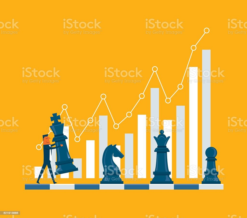 Investment Strategy vector art illustration