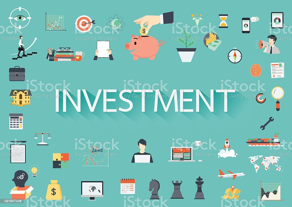 Investment vector art illustration