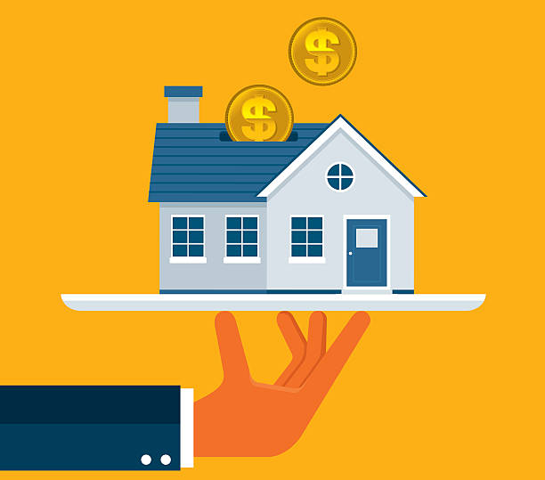 Investment Investment home ownership stock illustrations