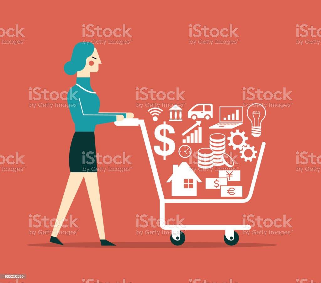 Investor - Businesswoman investor businesswoman - stockowe grafiki wektorowe i więcej obrazów bankowość royalty-free