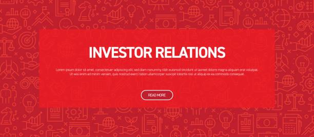 投資家向けリレーションズコンセプト - ビジネス関連のシームレスパターンウェブバナー - 投資家点のイラスト素材/クリップアート素材/マンガ素材/アイコン素材