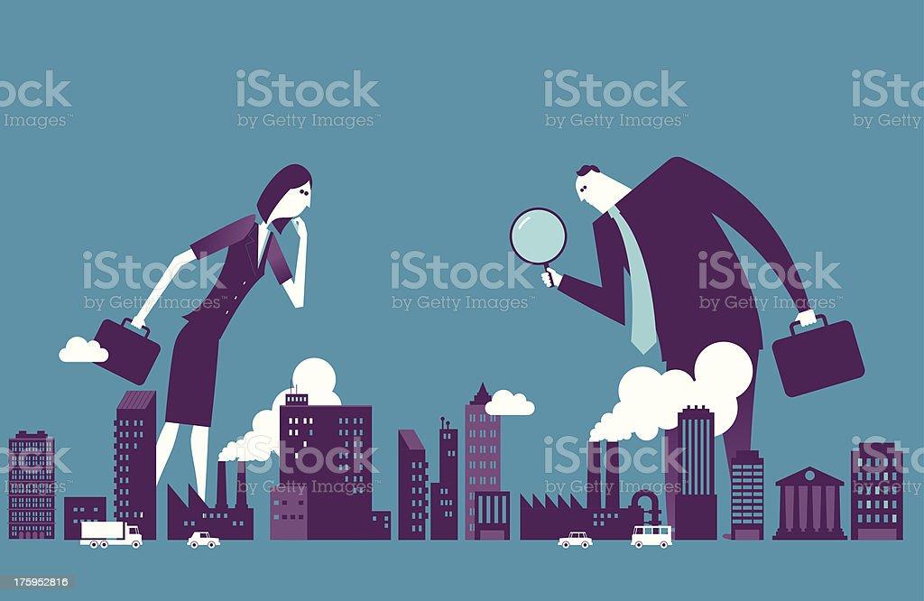 Investor vector art illustration
