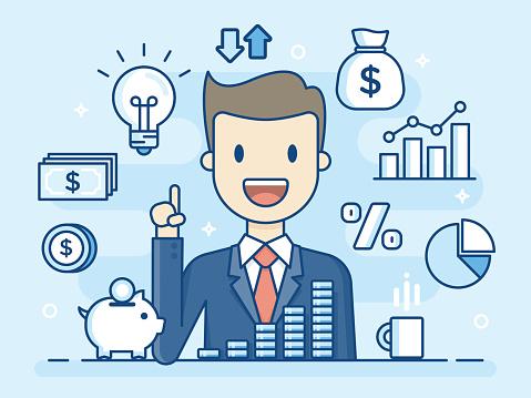Finance stock illustrations