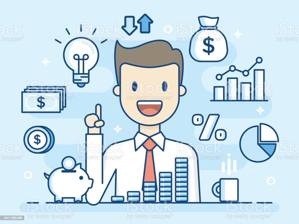 Investor. vector art illustration