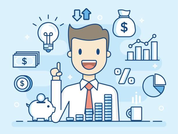 Investor. vector art illustration