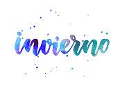 Invierno - watercolor lettering
