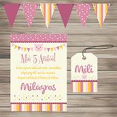 Invitación a Evento Infantil - Cerdo Rosa