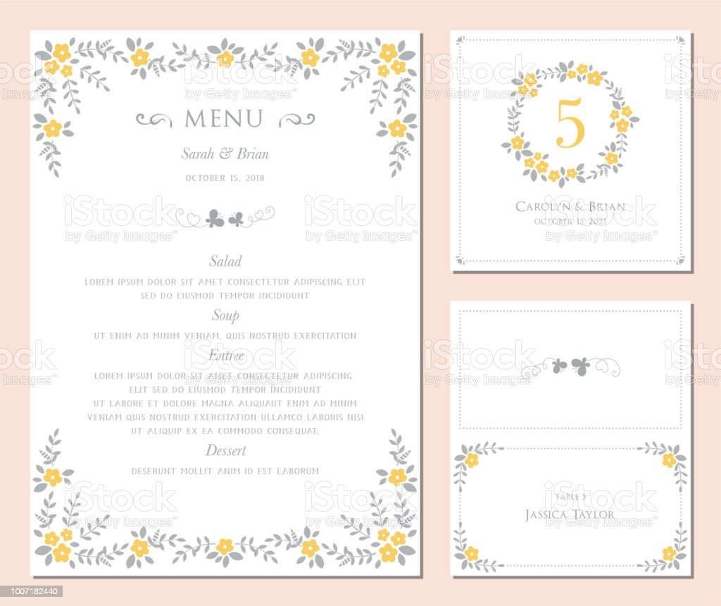 Invitation and Card Design Set_02 vector art illustration