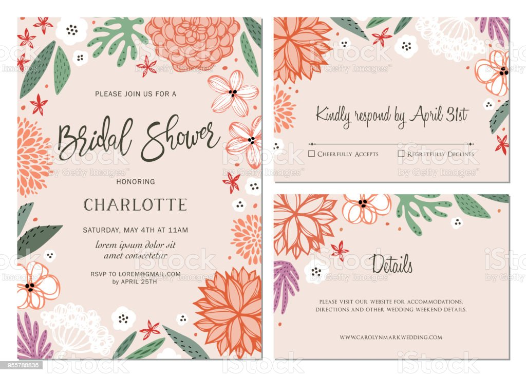 Invitation and Card Design Set_06 vector art illustration