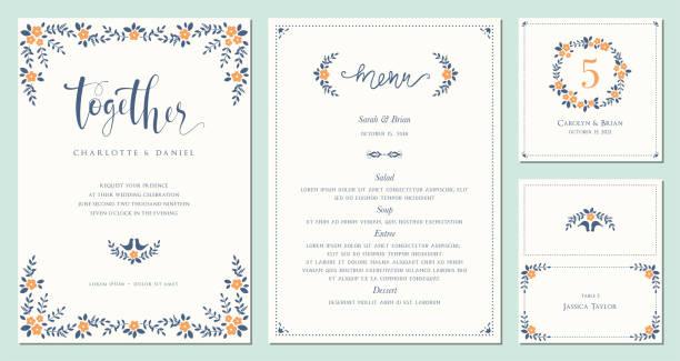 Einladung und Karte Design Set_09 – Vektorgrafik