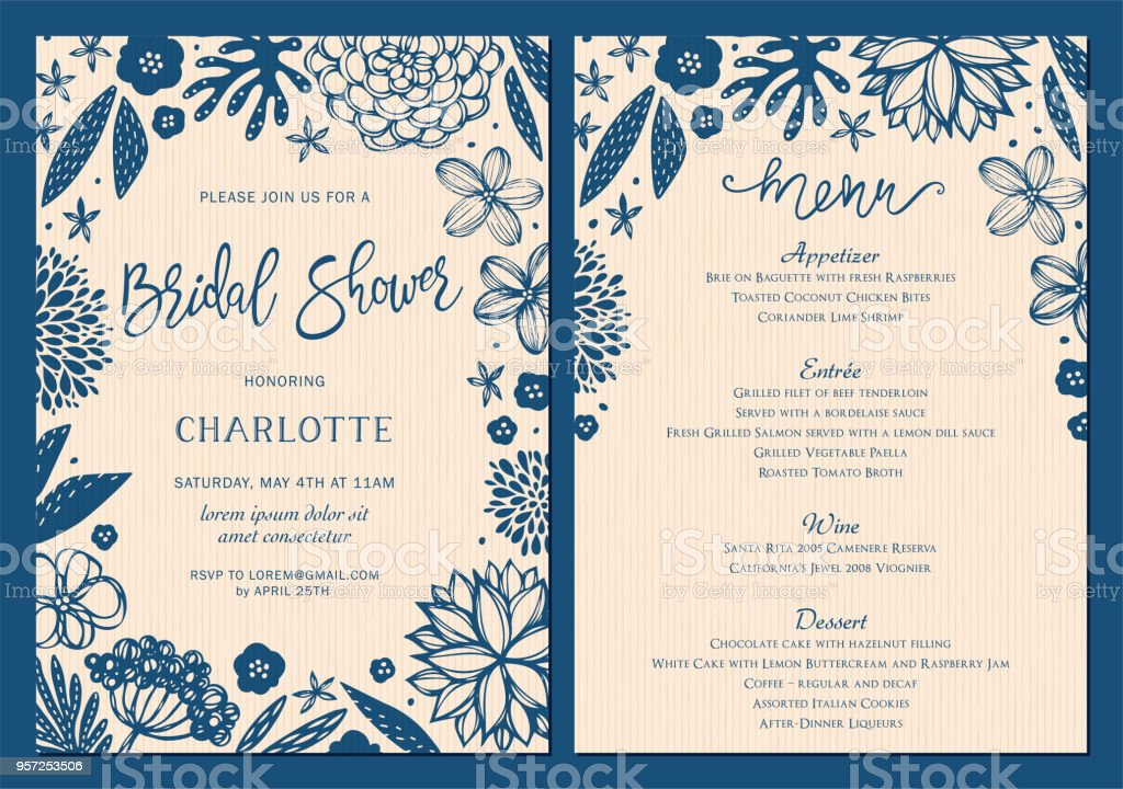Invitation and Card Design Set_10 vector art illustration