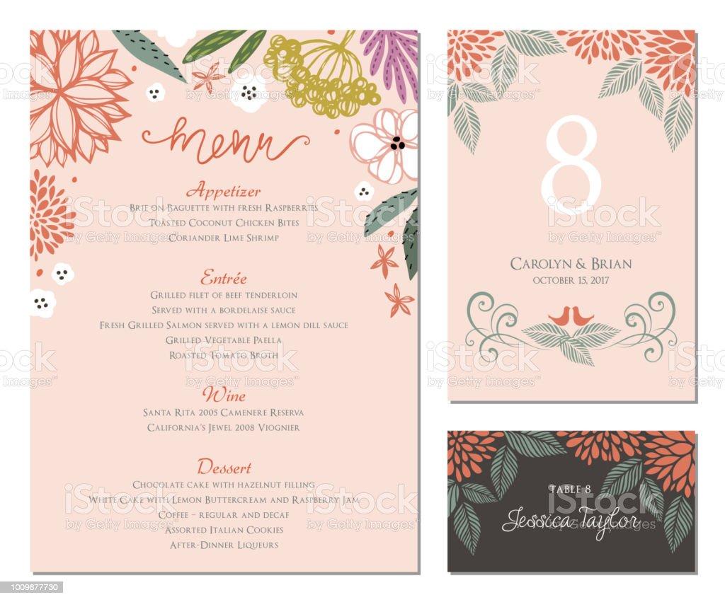 Ilustración De Invitación Y Tarjeta Diseño Set12 Y Más